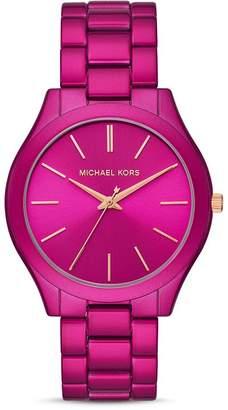 Michael Kors Slim Runway Link Bracelet Watch, 42mm