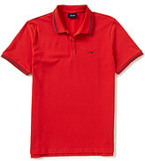 Armani Exchange Armani Jeans Solid Tipped Short-Sleeve Polo Shirt