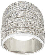 As Is Vicenza Silver Sterling Bold Pave' Crystal Ring