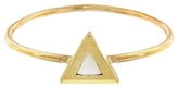 Jennifer Meyer Gold Triangle Mother of Pearl Ring