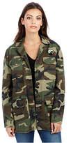 True Religion Womens East Peacock Military Camo Jacket