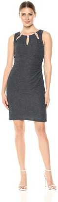 Brinker & Eliza Women's Fitted Dress with Cut-Out Neckline