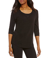 Calvin Klein Raglan-Shoulder Textured Knit Top