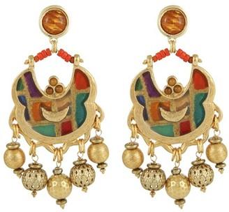 Gas Bijoux Havana enamel earrings