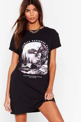 Fly London Nasty GalNasty Gal Womens Oh So Yosemite National Park Graphic Tee Dress - Black - S, Black