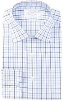 Lorenzo Uomo Trim Fit Oxford Check Dress Shirt
