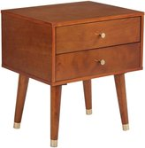 Office Star OSP Designs 2 Drawer End Table in Light Walnut