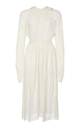 Prada Draped Voile Midi Dress