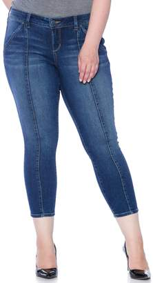 SLINK Jeans Center Seam Skinny Ankle Jeans (Plus Size)