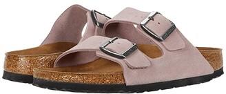 Birkenstock Arizona Soft Footbed (Lavender Blush Suede) Women's Sandals