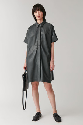 Cos Leather Shirt Dress