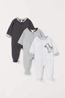 H&M 3-pack Jumpsuits - White