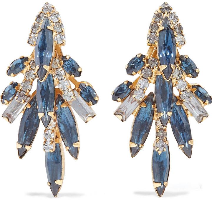 Elizabeth Cole Lil Billie 24-karat Gold-plated Swarovski Crystal Earrings