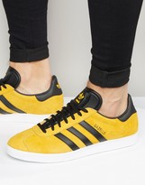 Adidas Originals Gazelle Trainers In Gold S79979