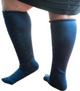 Xpandasox F15201NVY-911 Womens Diamond Texture-Solid Knee High Socks, Size 9-11