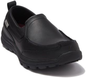 Skechers Relaxed Fit Hobbes Slip Resistant Leather Sneaker
