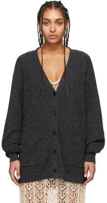 Acne Studios Grey Alpaca V-Neck Cardigan