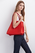 Clover Leather Tote In Red