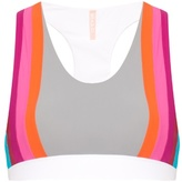 NO KA 'OI NO KA'OI Honi rainbow-stripes sports bra