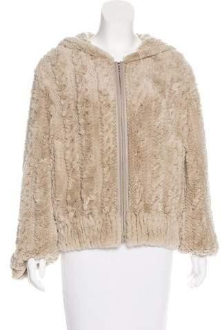 Yves Salomon Fur Hooded Jacket