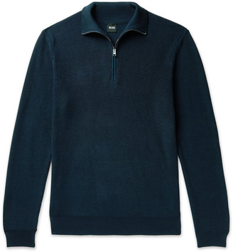 HUGO BOSS Icarlo Cotton Half-Zip Sweater