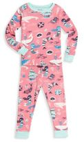 Hatley Toddler's, Little Girl's & Girl's Two-Piece Mermaid Printed Tee & Pants Pajama Set