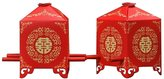 sea-junop 50pcs Chinese Tradition Bridal Sedan Chair Wedding Candy Gift Boxes