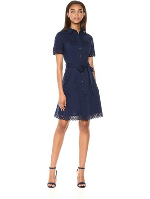 Shoshanna Women's Irene Short Sleeve Shirt Dress