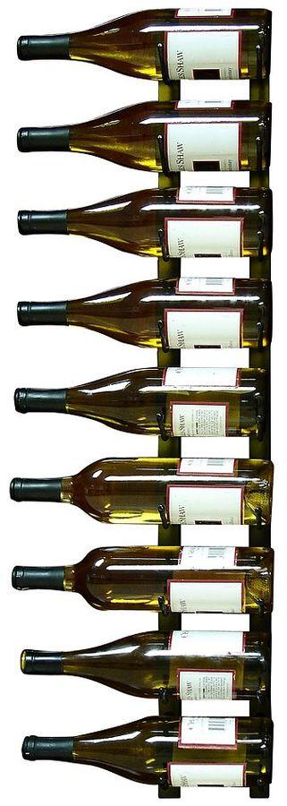 Epicureanist 9-Bottle Wall-Mounted Metal Wine Rack