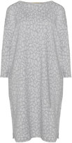 Isolde Roth Plus Size Boat neck jacquard cotton-blend dress