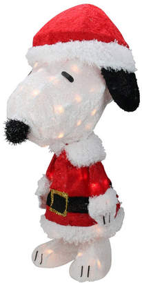 clear Northlight Pre-Lit Peanuts Snoopy in Santa Suit Christmas Outdoor Decoration Lights