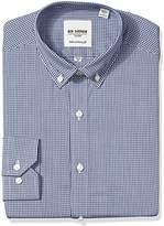 Ben Sherman Men's Skinny Fit Mini Check Button Down Collar Dress Shirt