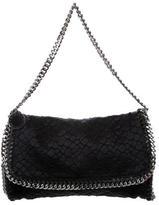 Stella McCartney Falabella Embossed Satin Shoulder Bag