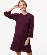 LOFT Ribbed Swing Sweater Dress