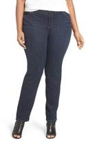 Eileen Fisher Stretch Denim Slim Leg Jeans (Plus Size)