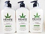 Hempz Original Herbal Moisturizer 17 Ounce Lotion 3 Pack