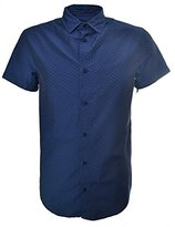 Armani Jeans Men's Short Sleeve Woven Printed Shirt