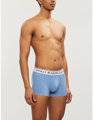 Polo Ralph Lauren Solid stretch-jersey trunks