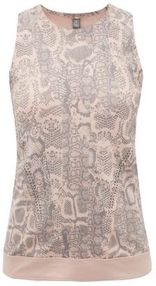 adidas by Stella McCartney Snake-print Stretch-technical Blend Tank Top - Womens - Pink Print
