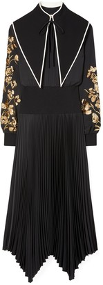 Tory Burch Removable Collar Embellished Dress