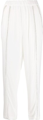 IRO Eyelet-Detail High-Waist Trousers