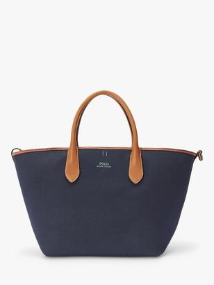 Ralph Lauren Polo Medium Bellport Reversible Tote Bag, Navy/Green