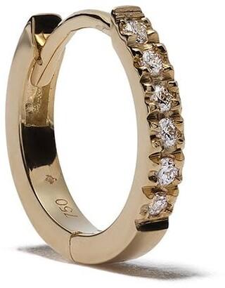 Feidt Paris 18kt Yellow Gold Diamond Medium Creole Hoop