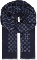 Gucci Logo Wool Scarf