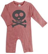 Urban Smalls Heather Red Skull & Crossbones Playsuit - Infant
