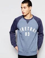 Firetrap Contrast Raglan Sleeve Crew Neck Sweater