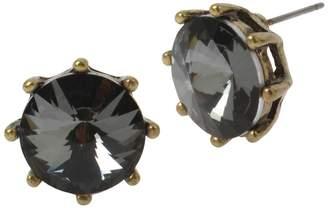 Miriam Haskell Rivoli Crystal Stud Earrings