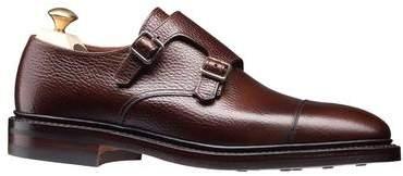 Crockett Jones Crockett & Jones Crockett and Jones Harrogate Double Monkstrap Shoe in Dark Brown