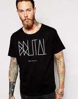 Dr Denim T-shirt Russ Brutal Print - Black