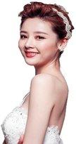 XY Fancy Handmade Crystals White Wedding Bridal Headband Hair Accessory